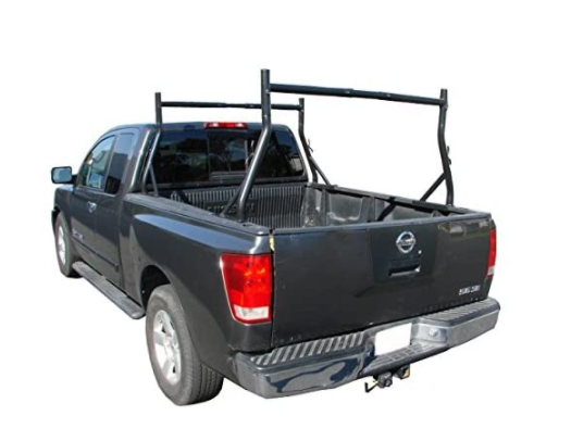 TMS 800 LB Adjustable Fit 2 Bars Utility Ladder Truck Pick up Rack Kayak Contractor Lumber Utility (US Patent NO.D722,007)